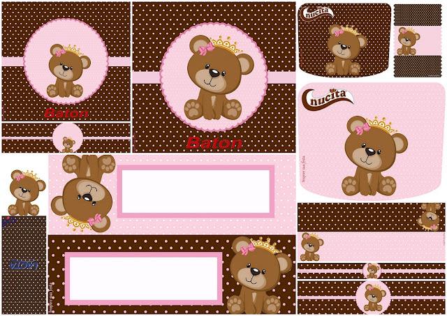 Osita Princesa: Etiquetas para Candy Buffet para Imprimir Gratis.