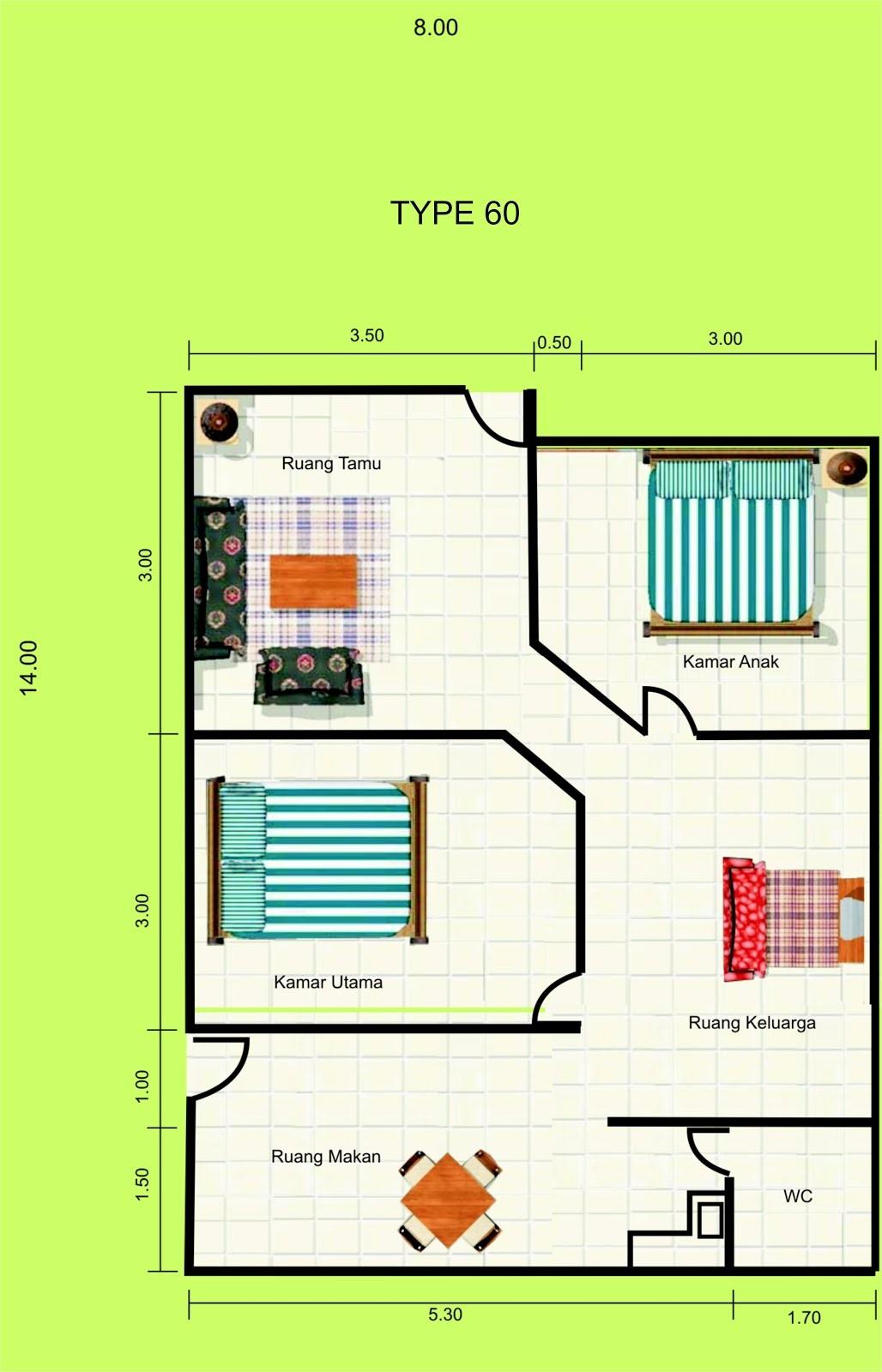 Inspirasi Gambar Denah Rumah Type 80 Yang Menarik