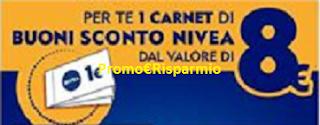 Logo Con Nivea ricevi come premio sicuro un carnet di buoni sconto