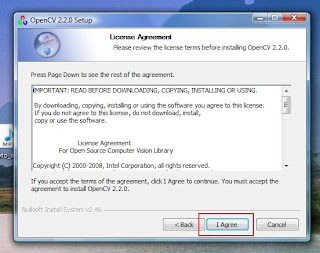opencv 2.2 license agreement