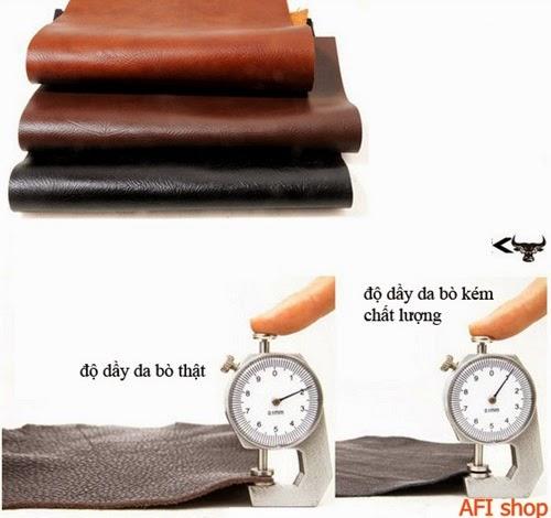 Túi xách nam chất liệu da thật