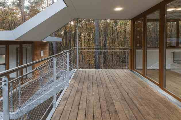 Ghayda A Belgian Tree House On Stilts By Baumraum Studio