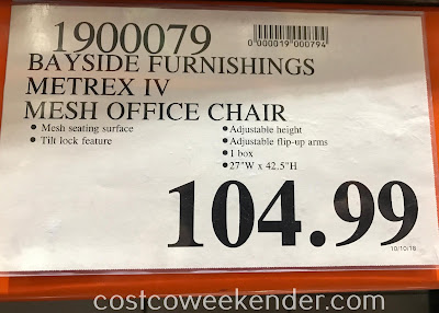 Deal for the Bayside Furnishings Mesh Office Chair at Costco