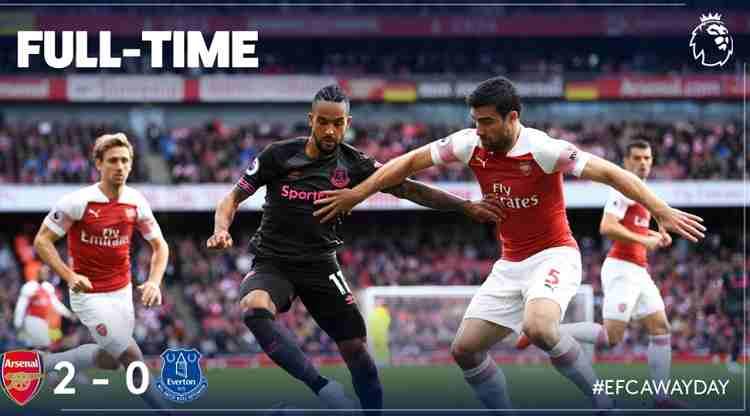 Hasil Arsenal vs Everton Skor Akhir 2-0