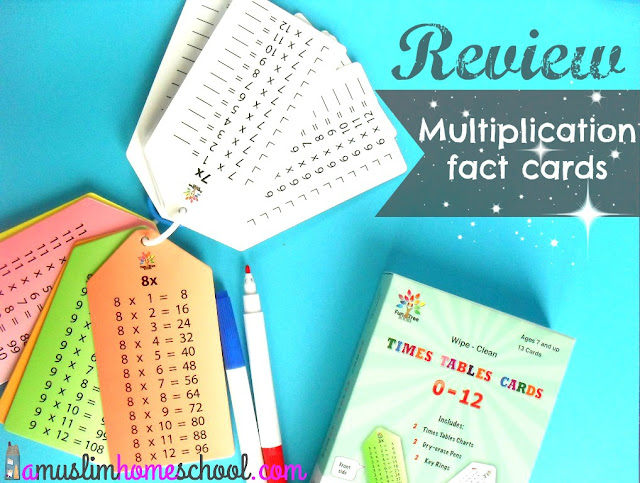 Multiplication fact cards review