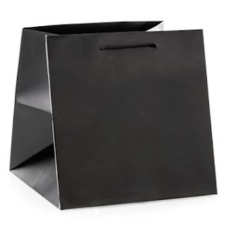 büyük boy siyah mat kağıt çanta