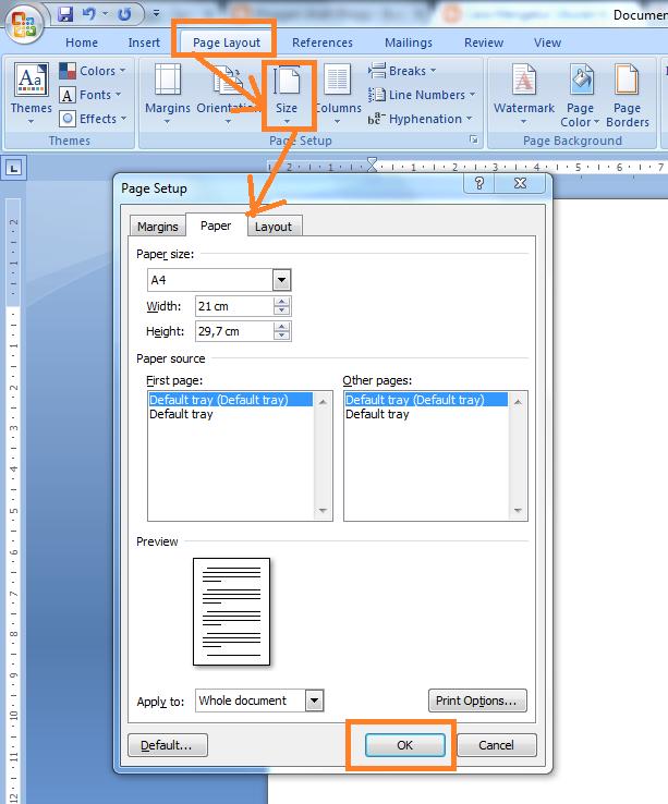 Cara Mengatur Ukuran Kertas Di Microsoft Word | ArahBlogg