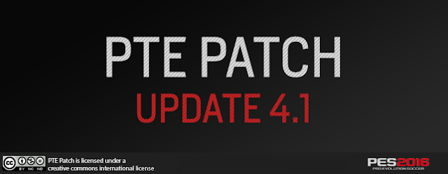 PES 2016 PTE Patch Update 4.1 - RELEASED 13/02/2016