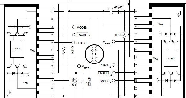 a3952s bipolar stepper motor driver schematic circuit diagram