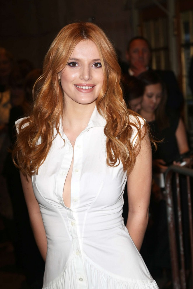 Bella Thorne attends the Zac Posen SS16 NYFW Show
