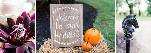 Welcome to Our Wedding Sign - A Cranberry and Blue Autumn Wedding at Worsell Manor in Warwick, MD by Heather Ryan Photography