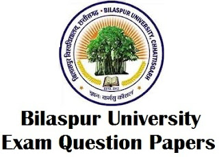 Bilaspur University Chhattisgarh Question Paper Download