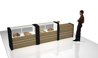 Semarang Furniture - Etalase Display Roti dengan Pemanas