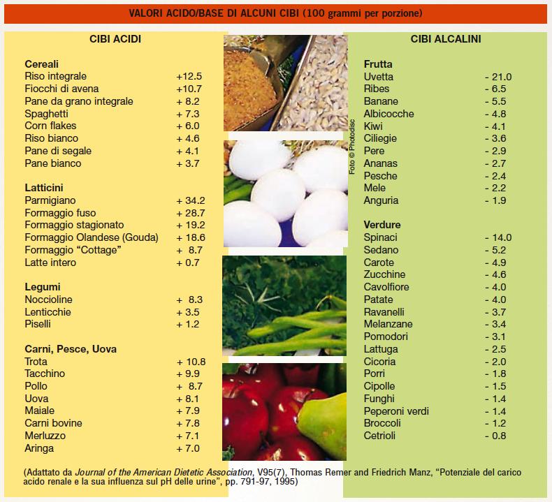 dieta alcalina e cancro pdf