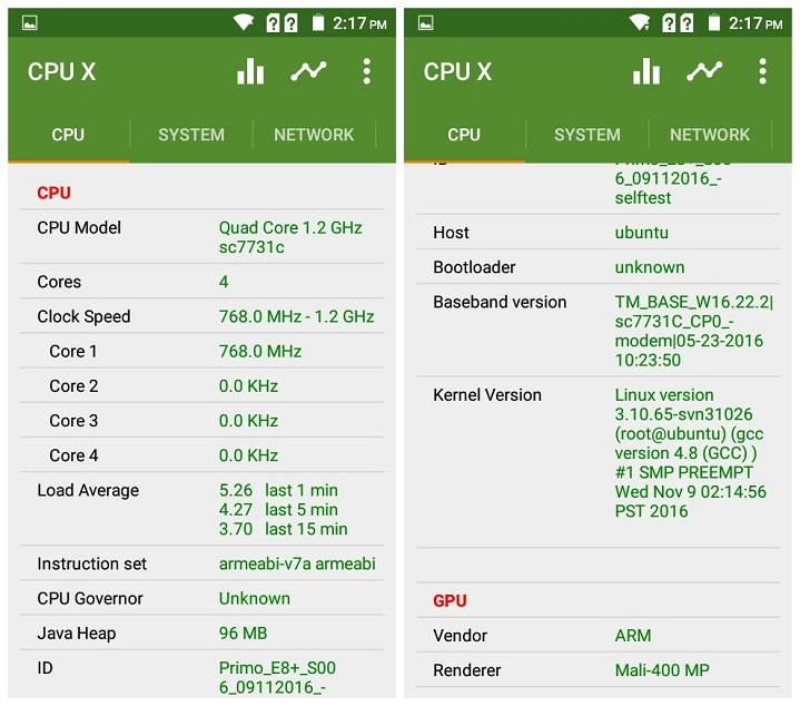 Primo E8+ Chipset GPU