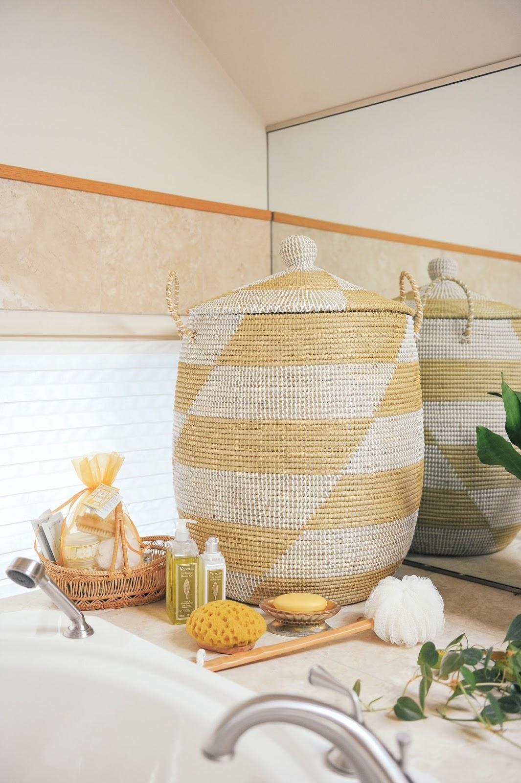 Modern Bathroom Organization Serena & Lily La Jolla Basket