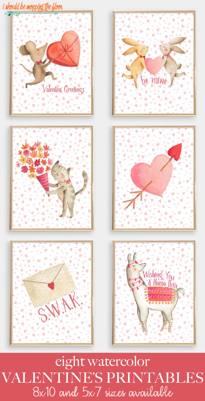 Eight Animal Valentine Printables and Cards