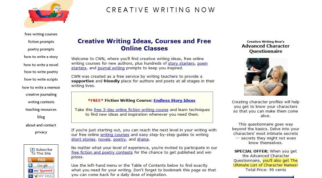 Creative writing sites