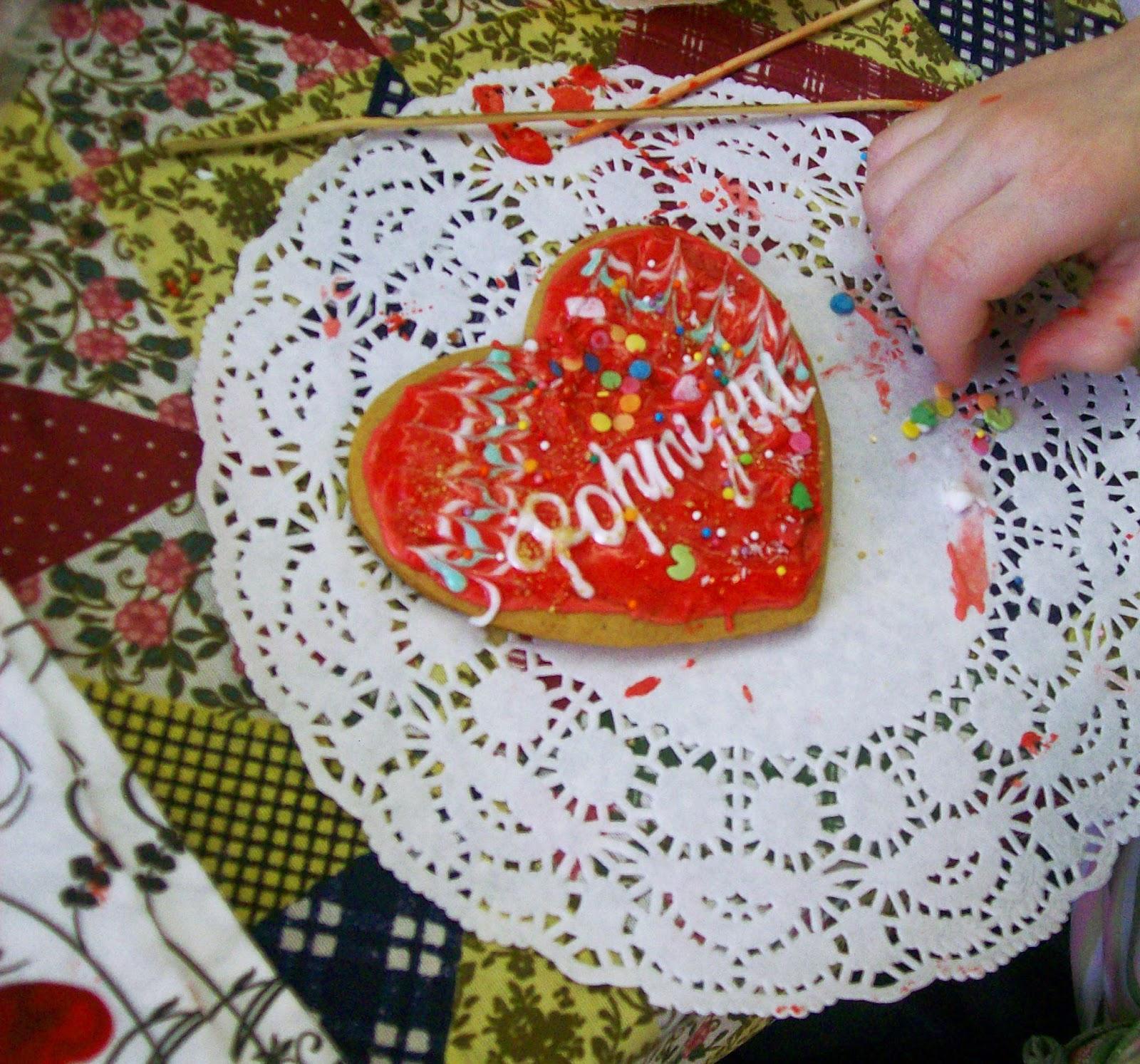пряники - имбирные сердечки