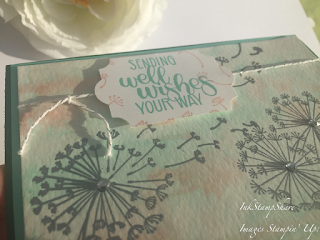 Dandelion Wishes Get well Card, Inspire Create Stamping Challenge #022