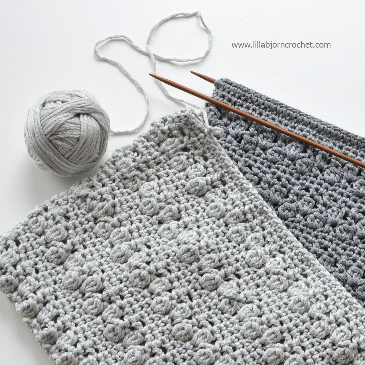 Crochet project with needles - Lilla Bjorn Crochet