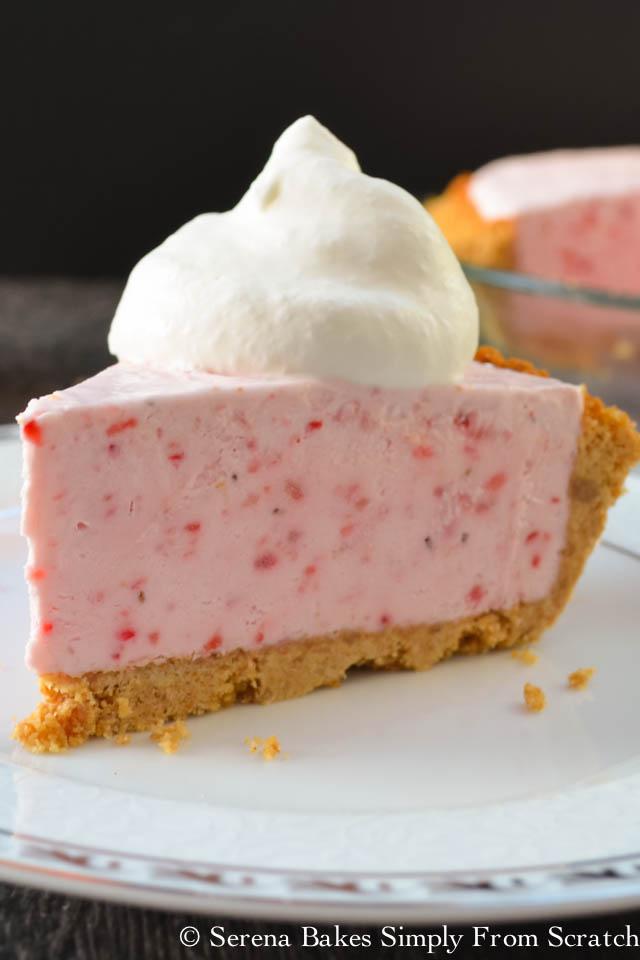 Frozen strawberry Cheesecake is a perfect summertime dessert!