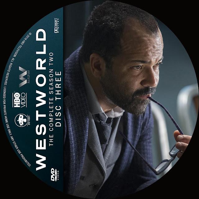 Label DVD Westworld Primeira Temporada Disco 3