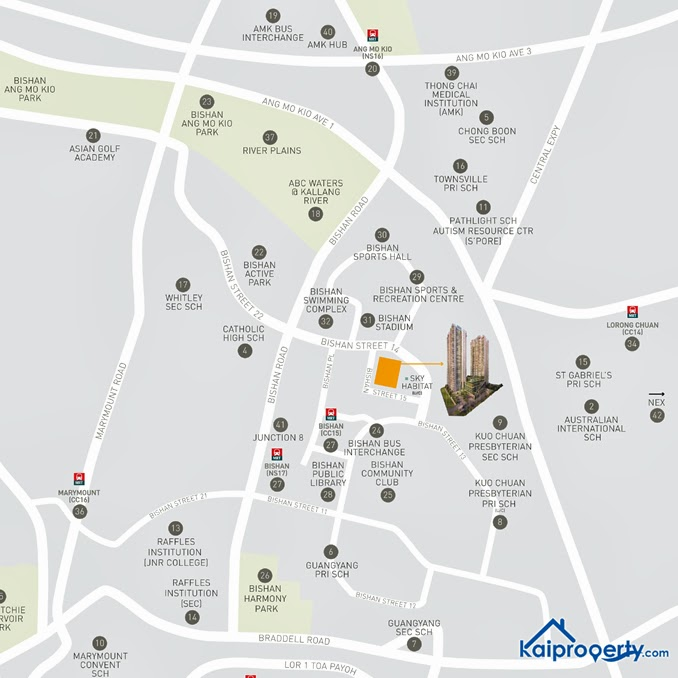 Sky Vue Bishan - Location Map