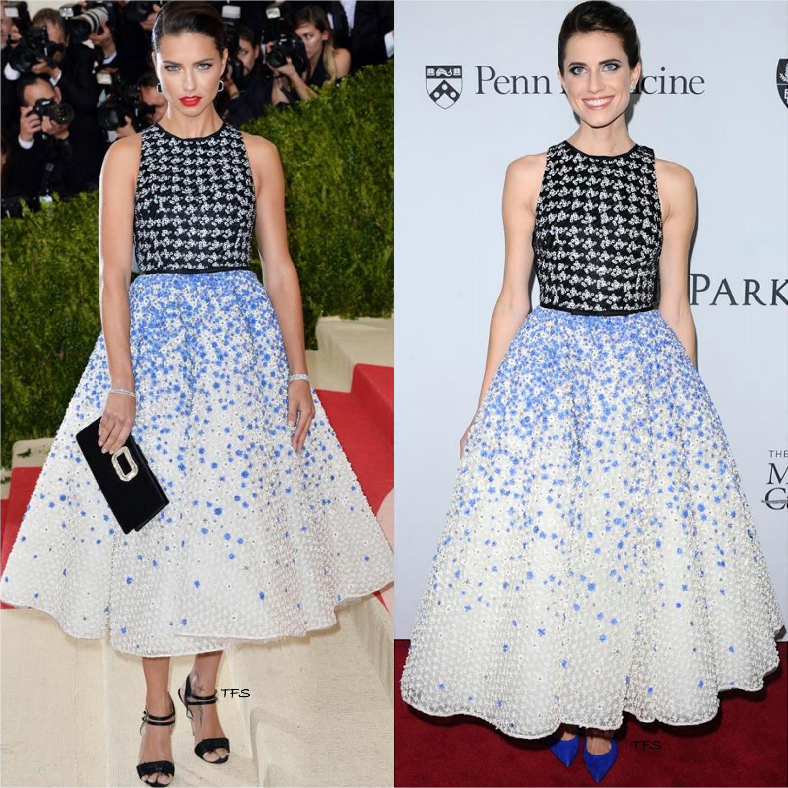 fa46b54bd3da Fashionista War  Adriana Lima Vs. Allison Williams in Giambattista Valli  Spring 2016 Couture