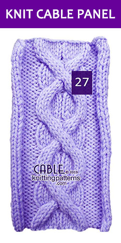 Knitted Cable Panel Pattern 27