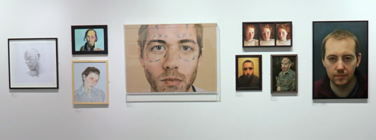 SELF Portrait Prize 2013 - South Wall, Threadneedle Space, Mall Galleries