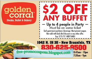 photograph relating to Golden Corral Coupons Buy One Get One Free Printable named Printable Discount coupons 2019: Golden Corral Discount coupons