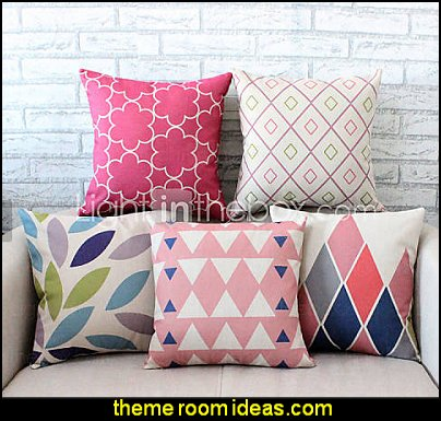 Geometric Patterns Pillowcase Sofa Home Decor Cushion Cover  Throw Pillows - decorative pillows - cushion covers - accent pillows - novelty pillows - unique pillows - Cushion Covers -  faux fur pillows - rhinestone  bling pillows - fun pillows - novelty throw pillows