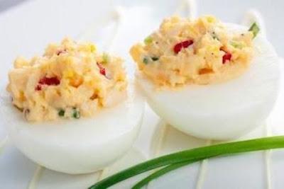 Reteta simpla de oua umplute cu cuscus