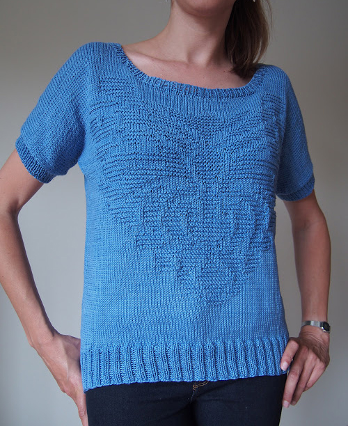 Byzantium Top by Irina Anikeeva, knit by Dayana Knits