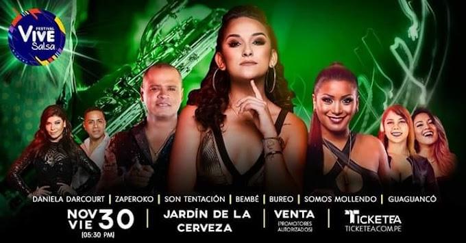 Festival Vive Salsa con Daniela Darcourt en Arequipa - 30 noviembre