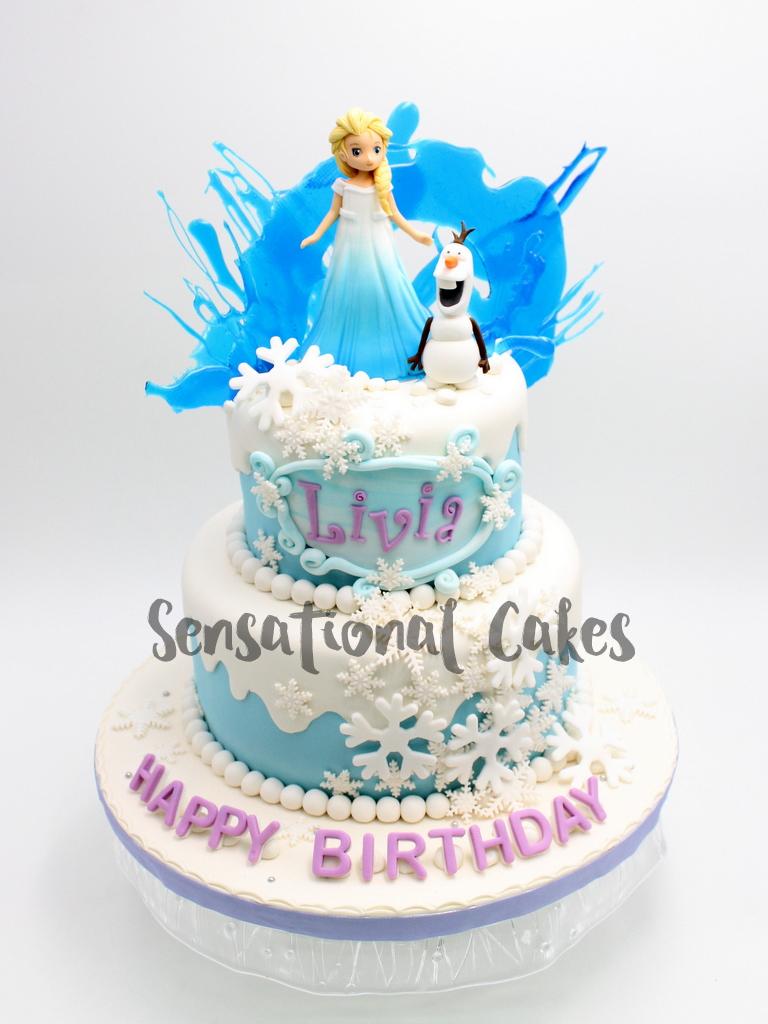 The Sensational Cakes Frozen Elsa For Girl Birthday Cake Singapore