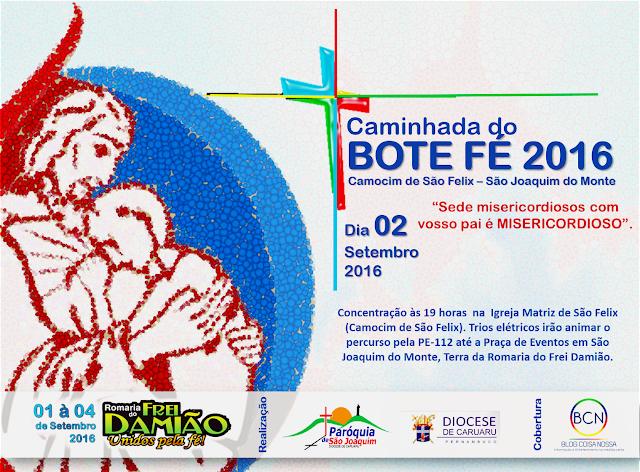 BOTE FÉ: 5ª edição da Caminha do Bote Fé acontece essa semana durante a Romaria do Frei Damião.