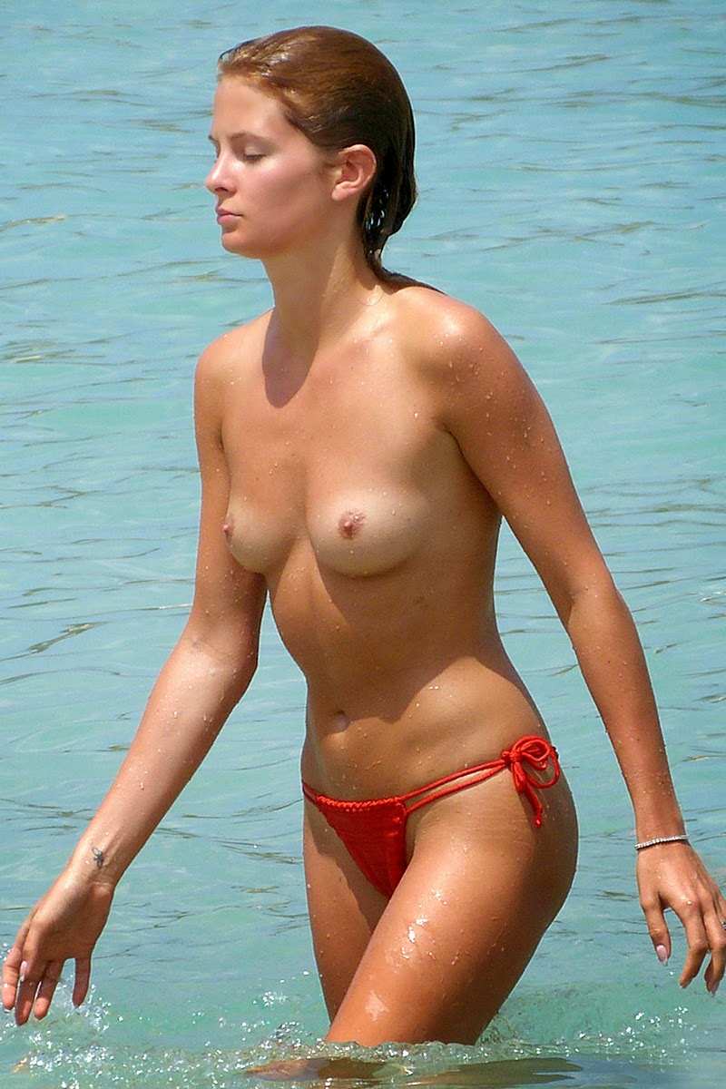 Ibiza beach topless
