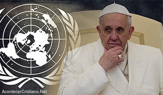 Papa Francisco pide un nuevo gobierno mundial para salvar a la humanidad