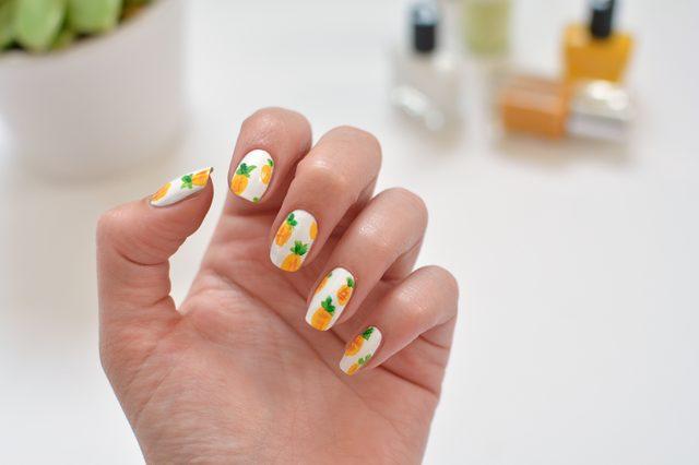 DIY Ananas Şeklinde Tırnak Süsleme