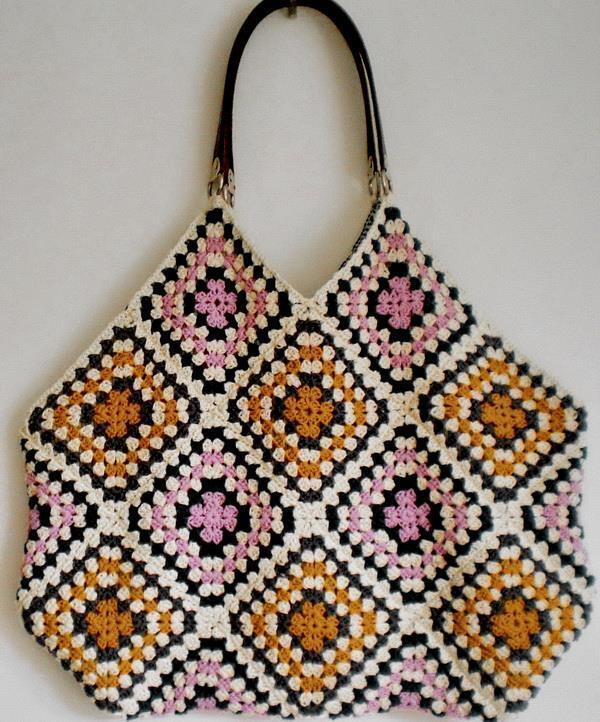Crochet Handbag, granny squares