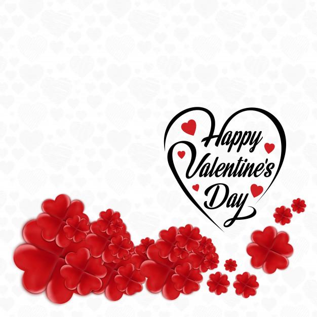 Happy Valentine's Day Flower Frame Free Vector