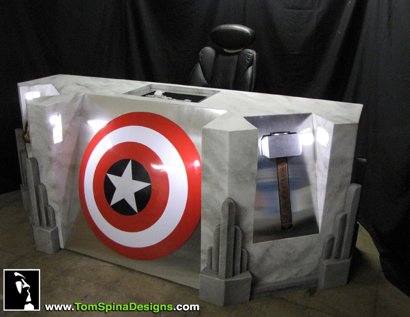 Super Punch King Kong Themed Home Theater Avengers Desk