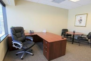 An Office Room Suite with a Separate Work/Sitting Area