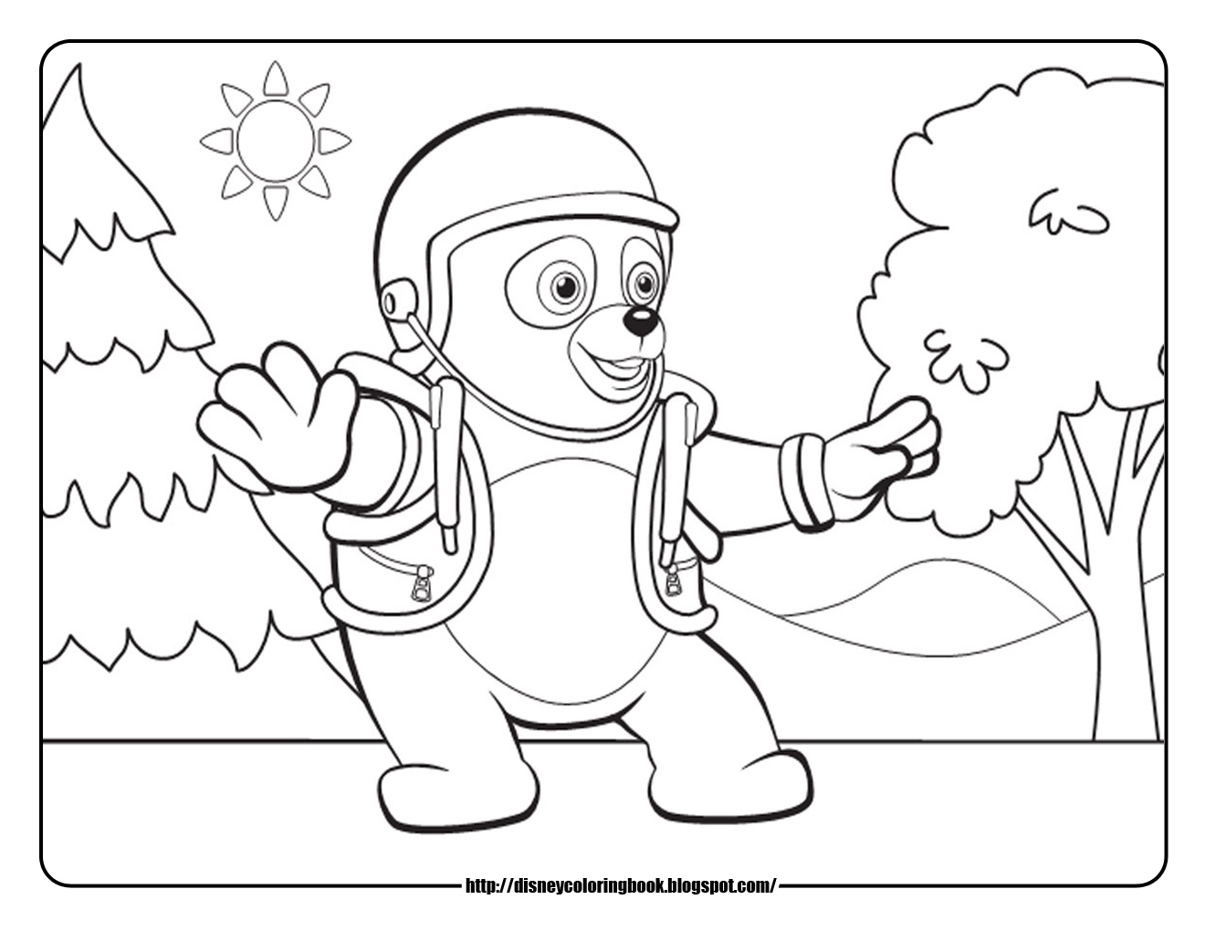 Disney Coloring Pages And Sheets For Kids Special Agent Oso