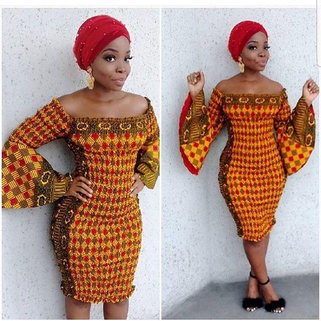 Ankara Elastic Dress : Latest Beautiful Gown Styles for Pretty ...