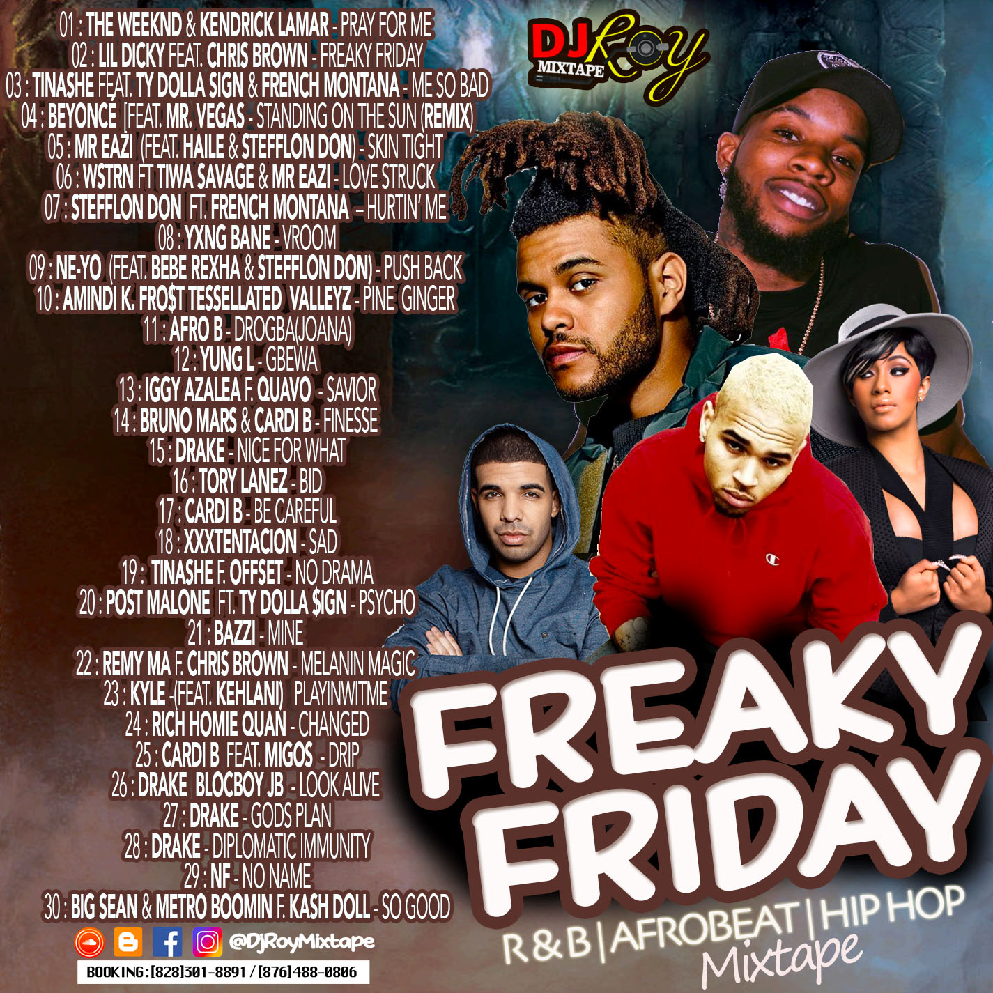 DJROYMIXTAPE : DJ ROY FREAKY FRIDAY RNB/AFROBEAT/HIP HOP MIX