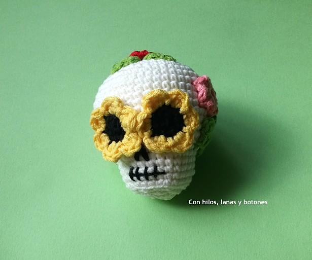 Con hilos, lanas y botones: Catrina amigurumi
