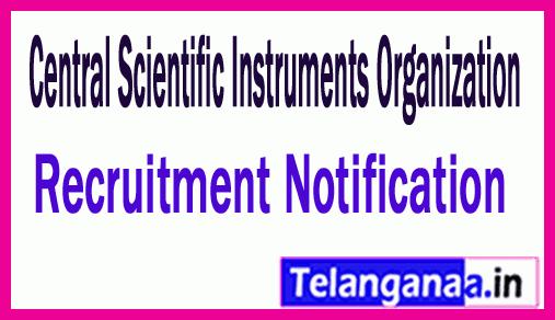 Central Scientific Instruments Organization CSIO Recruitment Notification
